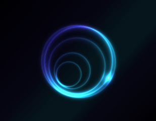 Vector blue spiral in space