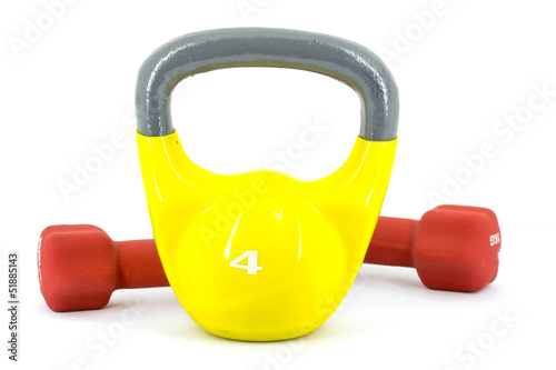 Kettlebell and weights