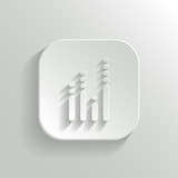 Equalizer icon - vector white app button