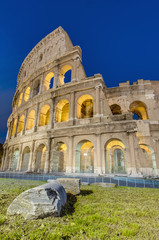 The Colosseum, or the Coliseum, amphitheatre in Rome, Italy