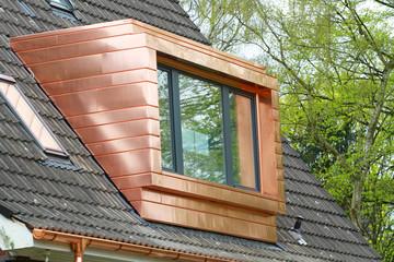 Kupferdachgaube mit Panoramafenster