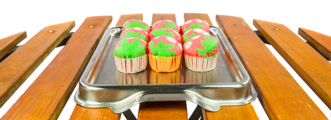 Malaysia's Kuih Apam or colorful traditional mini sponge cake