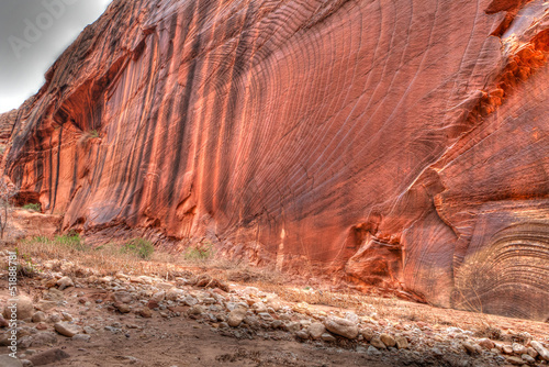 Tuinposter Canyon Sandstone Wall Pattern