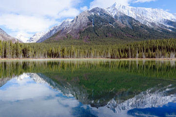 Reflection of Mount Engadine in Buller Pond
