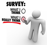 Survey - What I Really Think Answers Touch Screen Response