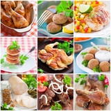 Collage of different chicken dishes