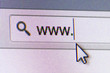 WWW Text in Address Bar