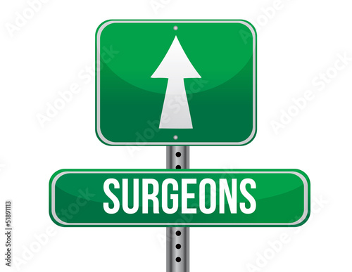surgeons road sign illustration design
