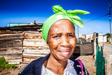 Woman with the green head wrap