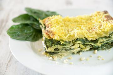 Blattspinat-Lasagne