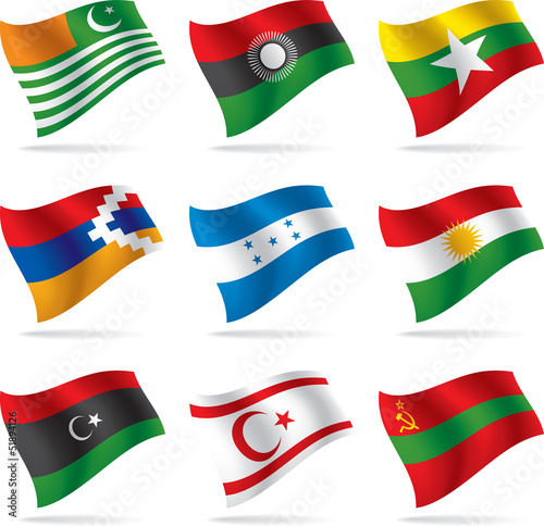 Set of world flags