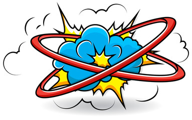 Comic Book Cloud Explosion Vector