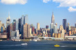 Manhattan Skyline over Hudson River, New York City
