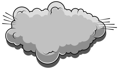 Comic Cloud Cartoon Vector