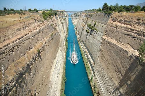 Leinwanddruck Bild Canal de Corinto