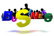 Business 3D icon have people a black in the background