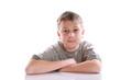 portrait of a pensive teen