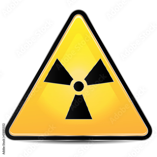 sign of radiation on a white background