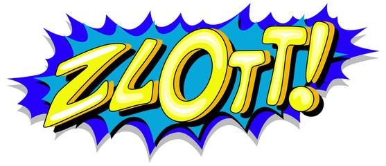 Zlott - Comic Expression Vector Text