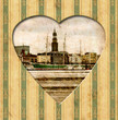canvas print picture - Vintage Heart - Hamburg