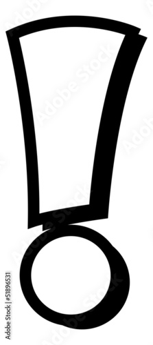 Black Exclamation Mark Vector