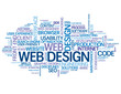WEB DESIGN Tag Cloud (internet graphics website solutions ideas)