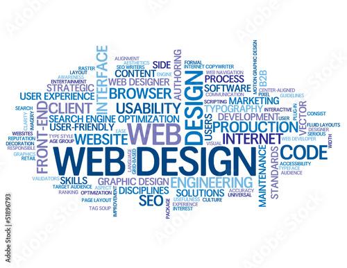 WEB DESIGN Tag Cloud (internet graphics website solutions ideas)