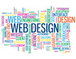 """WEB DESIGN"" Tag Cloud (internet website homepage graphics user)"