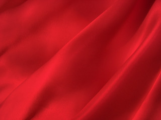 Folded scarlet silk background