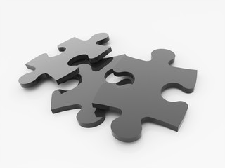 Puzzle black isolated