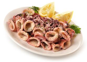 Plato de calamares a la plancha.