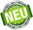 """Button Banner """"NEU"""" grün/silber"""