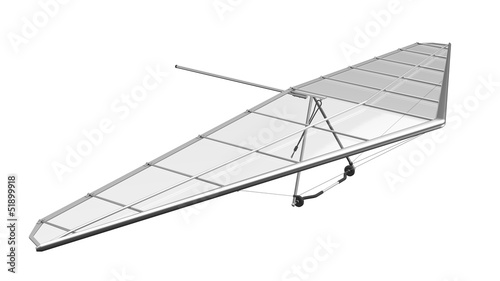 Hang Glider Isolated on White Background