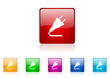 energy vector glossy web icon set
