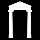 classic columns ,vector drawing