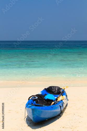 kayaks at the tropical beach Kingdom Thailand