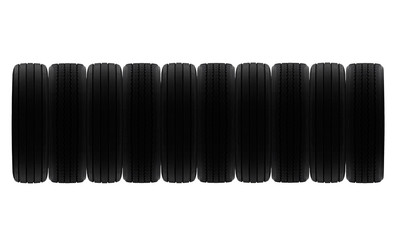 line of tyres