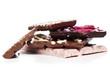 Heap of luxury chocolate chunks