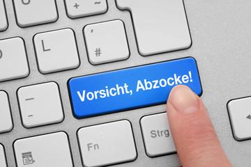 Tastatur mit Vorsicht, Abzocke!
