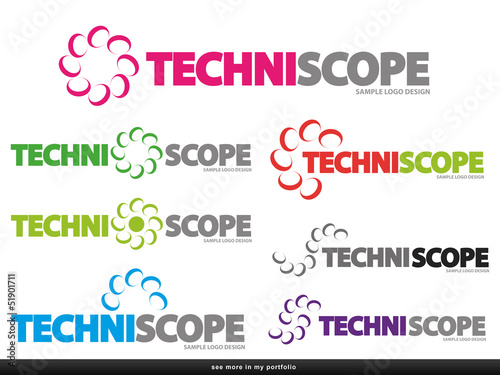 Company Logo - Semicircle Design,vector