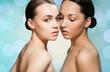 Beauty portrait of 2 beautiful women