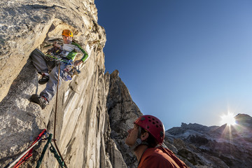 Climbing team.