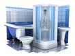Bathroom equipment 3d
