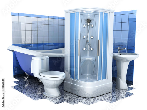 Bathroom equipment 3d