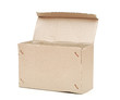 empty cardboard box isolated on the white background