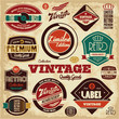 Vintage labels collection. Retro labels.