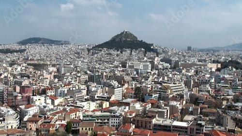 The Bird's eye view of Athens.