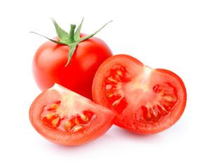 Ripe sliced tomatoes