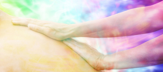 Dreamy Massage website header, soft focus