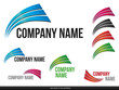Company (Business) Logo Arcs Design,vector